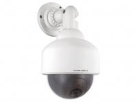 Dummy-Dome Kamera Attrappe mit blinkender LED-Anzeige Alarmanlage