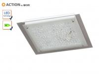 LED Deckenleuchte / Deckenlampe Glas, Tropfen Dekor, Action by Wofi