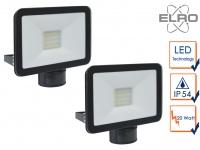 2 LED Strahler Fluter schwarz 10W Bewegungmelder 6m Scheinwerfer Wandstrahler