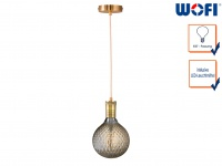 Vintage Schnurpendel Messing mit E27 Filament LED, Hängelampe Retro Design