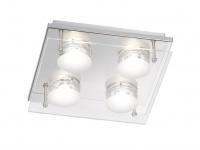 4-flammige LED Deckenleuchte ENVY, 22x22 cm, LED Deckenlampen, Deckenlampe