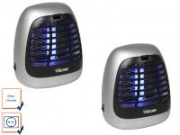 2er SET Insektenvernichter Fliegenfalle UV-Lampe Fliegenfänger Insektenschutz