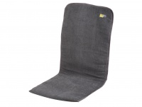 Gepolsterte Sitzauflage Sitzkissen Bezug in Anthrazit 125 x 54 x 1/2 cm