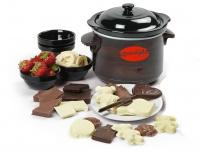 Elektrisches Schoko-Fondue mit Keramik-Topf und kreativem Chocolatier Zubehör