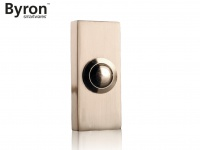 Klingelknopf im Design Nickel gebürstet, Klingeltaster 2Draht Klingelplatte Haus