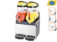Gastro Slush Eis Maschine, 2x 10L, 400W, -2°C / -3°C, Profi Slushy Maker GGG