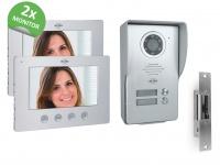 ELRO Videotürsprechanlage 2Familienhaus mit 2x Monitor, Außenkamera & Türöffner