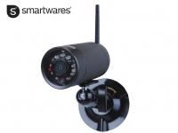 Drahtlose Aussenkamera, Nachtsicht mit 9 IR-LEDs, IP66 SMARTWARES