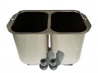 Doppelbackform für 2 Brote + Knethaken DOMO Brotbackautomaten B3990 B3955