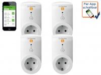 G-Homa 4er SET WiFi Schaltsteckdose Energiekostenmessfunktion per Smartphone-App