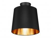 Ausgefallene Deckenleuchte mit Stoff Lampenschirm - Stoffschirm Wohnzimmerlampen