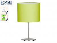 Tischleuchte ESTADIA Stoffschirm grün, Wohnzimmerlampe Beistelllampe Honsel