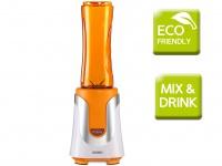 Domo Smoothie Maker, orange, 300W, inkl.2 Flaschen, Smoothie Stand Mixer Blender