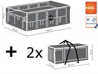 Schutzhüllen Set: Abdeckung für Gartenmöbel 285x180cm + 2x Hülle für 4-6 Kissen