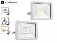 2 Stk 20W Strahler grau Baustrahler LED neutralweiß Scheinwerfer Arbeitsleuchte
