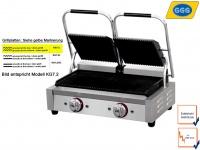 Profi Edelstahl Kontaktgrill 2 x 2200 W, Gastro Elektro Panini Multi Grill