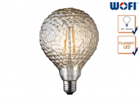 FILAMENT LED Leuchtmittel Wellen-Struktur 4 Watt, 300 Lumen, 1800 Kelvin, E27