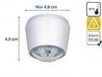 Mini Hitzemelder mit 10 Jahres-Batterie, 85dB, ideal für Küche oder Badezimmer