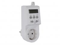 Stecker-Thermostat elektronisch für Heizpaneele, zwei Heizzyklen, IP20