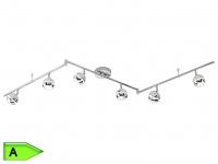 LED-Balken Deckenstrahler Strahler, inkl.6 x 4, 2W LEDs, 180 cm, chromfarbig