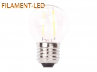 FILAMENT-LED Globe E27, 2 Watt, 200 Lumen, 2700 Kelvin, warmweiß
