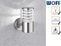 Wandleuchte / Außenleuchte in Edelstahl H. 23, 5cm LED Fassadenbeleuchtung Haus