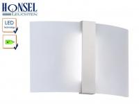 LED Wandleuchte Wandlampe Leuchte Nickel matt Acryl weiß matt CLIP