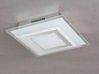 LED-Deckenleuchte 18 x 18cm, Design stufenförmig, Wofi-Leuchten
