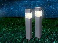 LED Solarleuchten für den Außenbereich - Gartendeko Erdspießleuchten im 2er SET