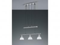 Trio Pendelleuchte Levisto nickel matt höhenverstellbar 3-flammig LED