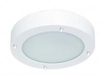 Bad-/Flur-Deckenleuchte Stahl/frosted glass, IP44, inkl. G9 LM RANEX