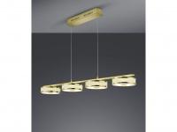 LED Pendel in Messing matt mit Switch Dimmer LIFT ME Höhenverstellung von 95-160