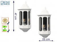 2er Set Außenwandleuchte Alu weiß, E27, Wandleuchte Hauswand Terrasse Lampe
