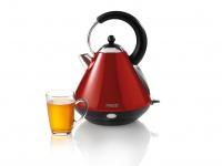 Design Wasserkocher Edelstahl Rot 1, 7 Liter kabellos 360° drehbar Teekocher