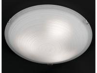 Deckenleuchte, Nickel matt / Glas weiß gewischt Ø 40 cm Honsel-Leuchten