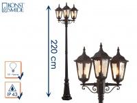 3-flammige Straßenlaterne Straßenlampe Wegeleuchte Standleuchte