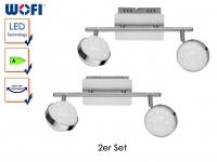 2er Set LED Deckenbalken MONDE, Sterndesign, Deckenleuchten Deckenlampen LED