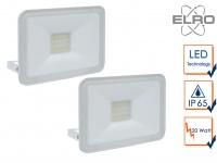 2 Strahler weiß Baustrahler 20W LED 5000K Scheinwerfer Arbeitslampe Flutlicht