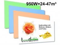950W Infrarotheizung, Elektroheizung bedruckbar, Bildheizung, Vitalheizung