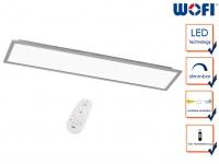 Flache LED Deckenleucthe 30x120 cm Fernbedienung für Dimmer & Farbtemperatur