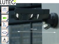 2-fl. Außenwandleuchte mit Bewegungsmelder Radius IP65 drehbar LED Wandleuchten