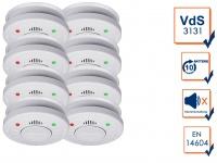 8er Set ELRO Rauchmelder 10 Jahre Batterie VdS Zertifiziert, Küchen geeignet