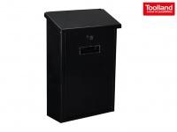 Schwarzer Briefkasten + 2 Schlüssel, Design Postkasten Wandbriefkasten Postbox