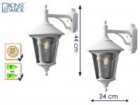 2 Stk. Außenwandleuchte Laterne weiß Lampe Hauswand Terrasse Garten Konstsmide