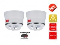 2er Set Mini Hitzemelder CAVIUS inkl. Magnethalter, 85dB
