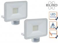 2 LED Strahler Fluter weiß 20W Bewegungmelder 6 Meter Scheinwerfer Wandstrahler