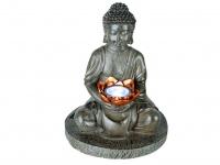 Außen DEKO Solarfigur - sitzender Buddha für die Gartenoase & den Meditationsort
