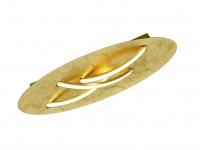 Ovale LED Deckenlampe 55x18cm goldfarbig/weiß mit 3-stufigem Switch Dimmer