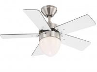 Deckenventilator mit Licht & Zugschalter, 2 Flügelfarben weiß/graphit, Raumlüfer