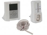 Vitalheizung Set: Funk Raumthermostat, Empfänger Steckdose, Bodenfühler Sensor